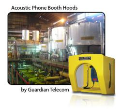 Acoustic phone booth hoods